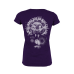 """Girlie Shirt """"Seven Inches"""" Purple"""