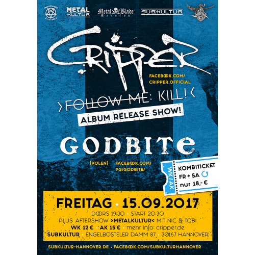 Concert ticket: 15.09.2017 Hannover, Album Release Show