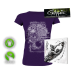 """Girlie Shirt """"Seven Inches"""" (purple)"""
